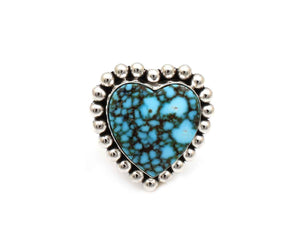 Kingman Turquoise Heart Ring-Jewelry-Artie Yellowhorse-Sorrel Sky Gallery