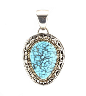 Artie Yellowhorse-Kingman Turquoise Pendant-Sorrel Sky Gallery-Jewelry