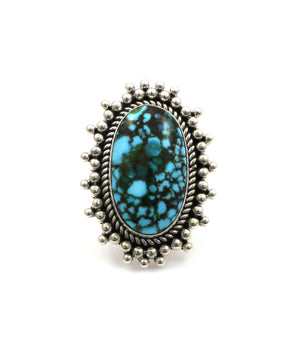 Kingman Turquoise Ring-Jewelry-Artie Yellowhorse-Sorrel Sky Gallery