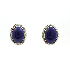 Lapis Earrings-Jewelry-Artie Yellowhorse-Sorrel Sky Gallery