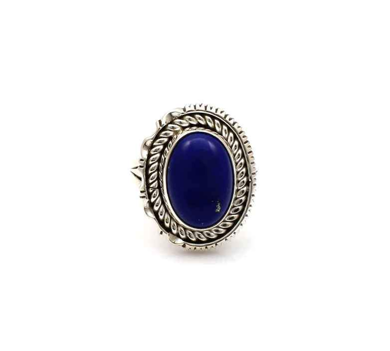 Sterling silver and lapis ring by Artie Yellowhorse
