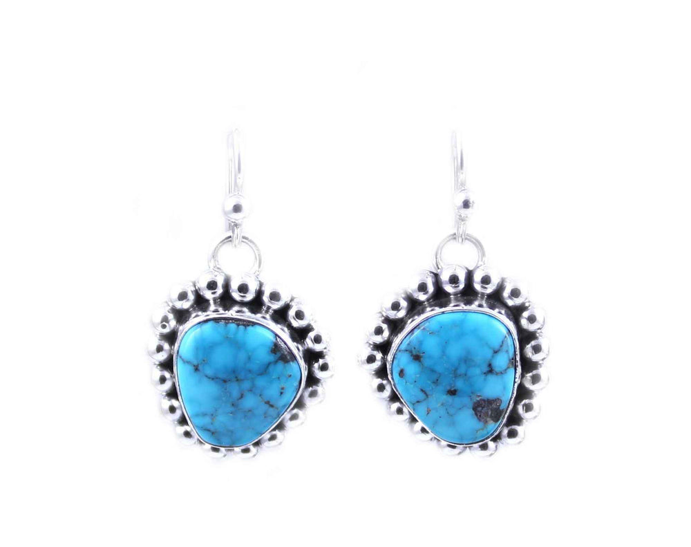 Artie Yellowhorse-Morenci Turquoise Earrings-Sorrel Sky Gallery-Jewelry