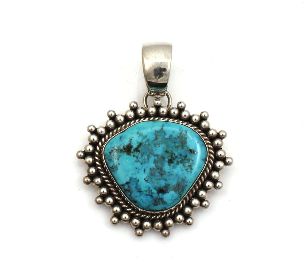 Artie Yellowhorse-Morenci Turquoise Pendant-Sorrel Sky Gallery-Jewelry