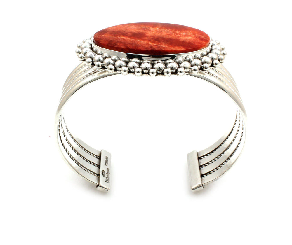 Orange Spiny Oyster Cuff Bracelet-Jewelry-Artie Yellowhorse-Sorrel Sky Gallery