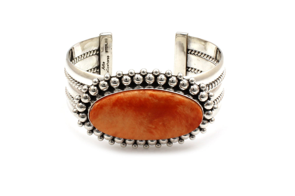 Orange Spiny Oyster Cuff Bracelet