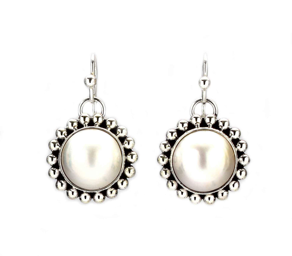 Artie Yellowhorse-Pearl Drop Earrings-Sorrel Sky Gallery-Jewelry