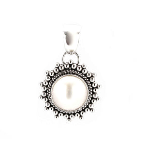 Artie Yellowhorse-Pearl Pendant-Sorrel Sky Gallery-Jewelry