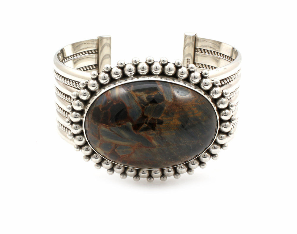 Pietersite Cuff Bracelet-Jewelry-Artie Yellowhorse-Sorrel Sky Gallery
