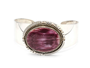 Artie Yellowhorse-Purple Spiny Oyster Bracelet-Sorrel Sky Gallery-Jewelry