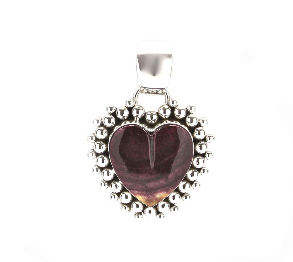Purple Spiny Oyster Heart Pendant