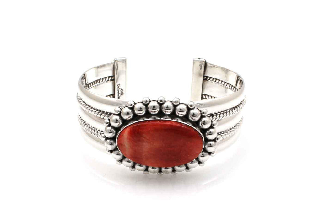 Red Spiny Oyster Cuff Bracelet