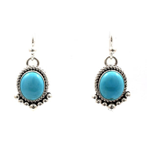 Sleeping Beauty Turquoise Earrings-Jewelry-Artie Yellowhorse-Sorrel Sky Gallery