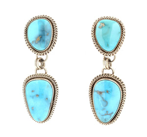 Artie Yellowhorse-Sleeping Beauty Turquoise Earrings-Sorrel Sky Gallery-Jewelry