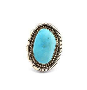 Artie Yellowhorse-Sleeping Beauty Turquoise Ring-Sorrel Sky Gallery-Jewelry