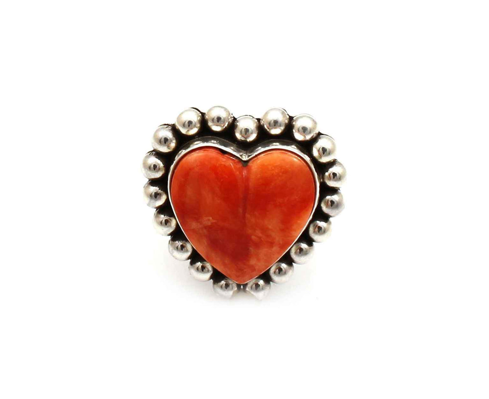 Spiny Oyster Heart Ring-Jewelry-Artie Yellowhorse-Sorrel Sky Gallery