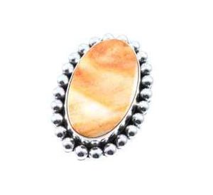 Artie Yellowhorse-Spiny Oyster Ring-Sorrel Sky Gallery-Jewelry