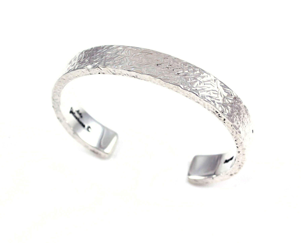 Artie Yellowhorse-Textured Silver Bracelet-Sorrel Sky Gallery-Jewelry