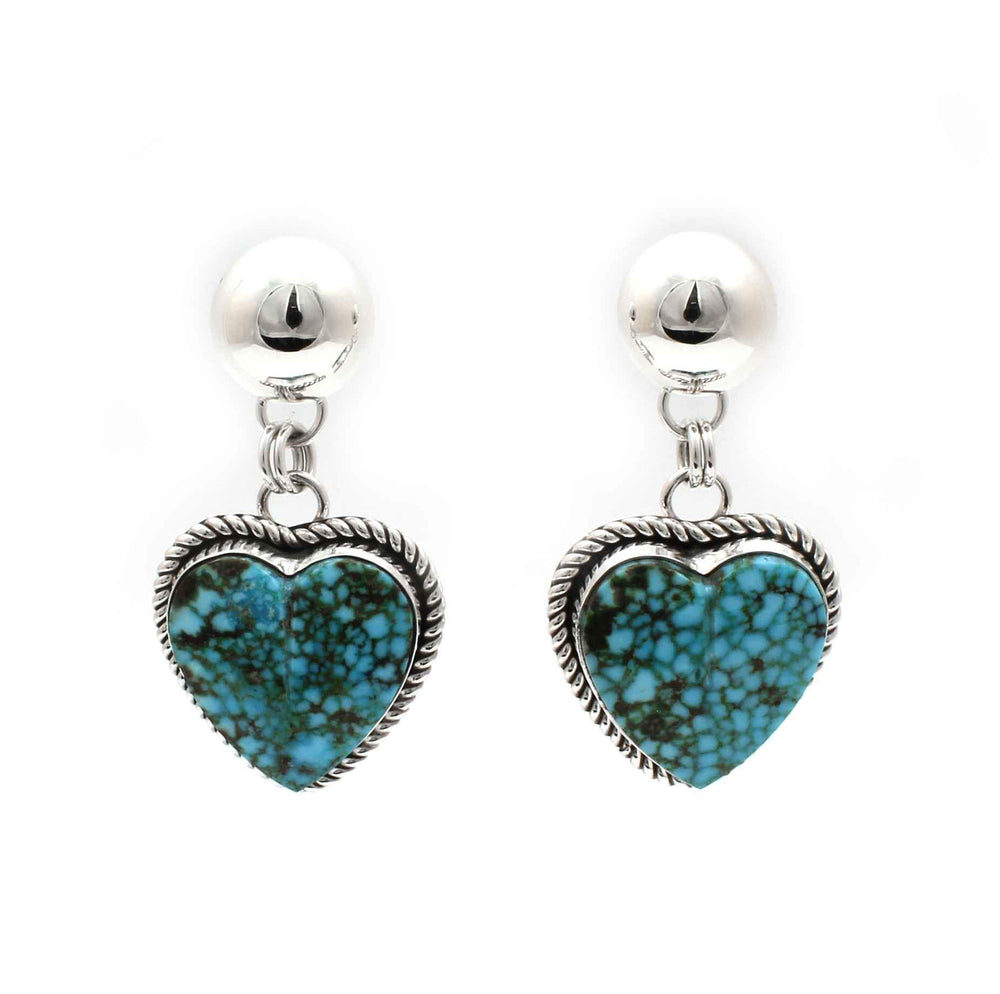 Turquoise Mountain Heart Earrings