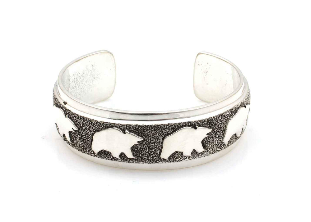 All Metal Bears Cuff Bracelet