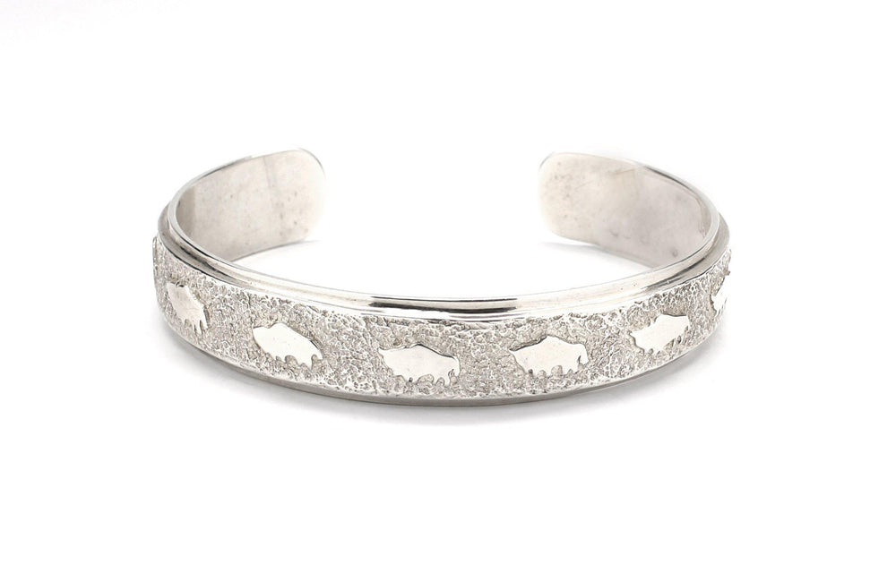 All Metal Narrow Buffalo Cuff Bracelet
