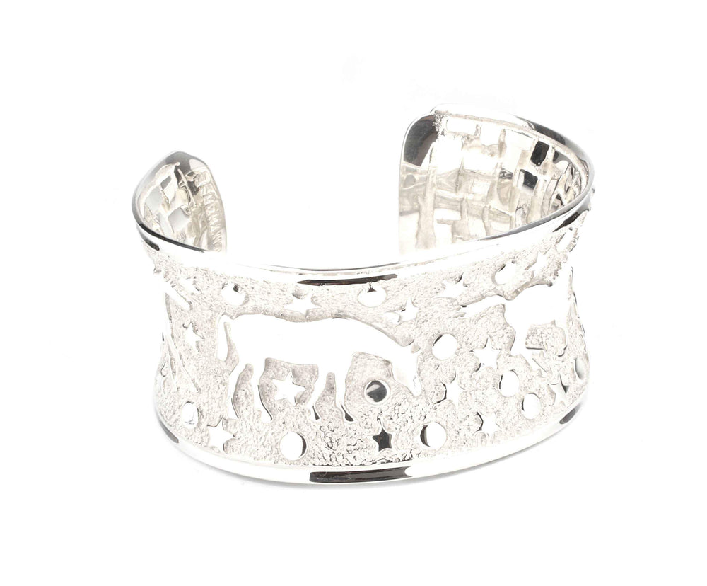 All Silver Heavenly Horses Bracelet