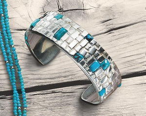 Ben Nighthorse-Basketweave Bracelet-Sorrel Sky Gallery-Jewelry