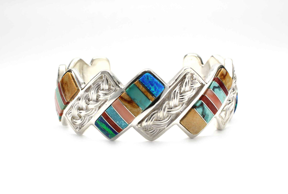 Basketweave Inlay II Cuff Bracelet