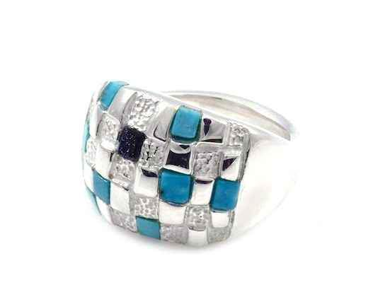 Ben Nighthorse-Basketweave Ring-Sorrel Sky Gallery-Jewelry