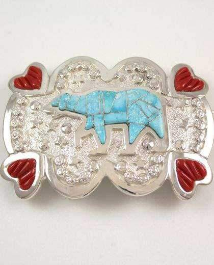 Ben Nighthorse-Bear Buckle-Sorrel Sky Gallery-Jewelry