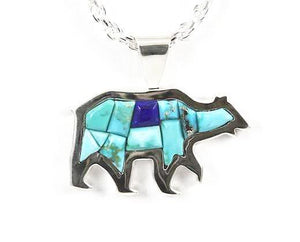 Ben Nighthorse-Bear Pendant-Sorrel Sky Gallery-Jewelry