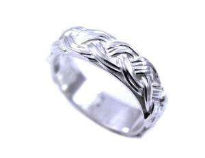 Ben Nighthorse-Braided Wedding Band-Sorrel Sky Gallery-Jewelry