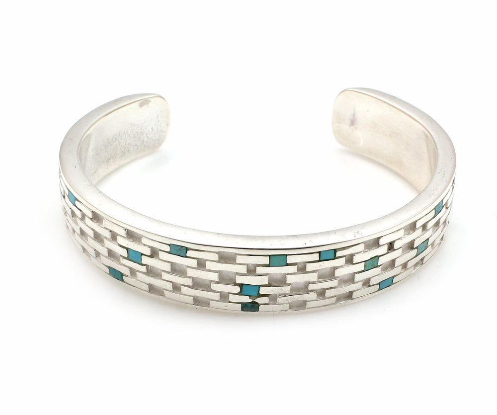 Brickwork Cuff Bracelet-Jewelry-Ben Nighthorse-Sorrel Sky Gallery