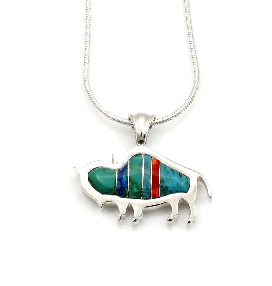 Buffalo Pendant-Jewelry-Ben Nighthorse-Sorrel Sky Gallery