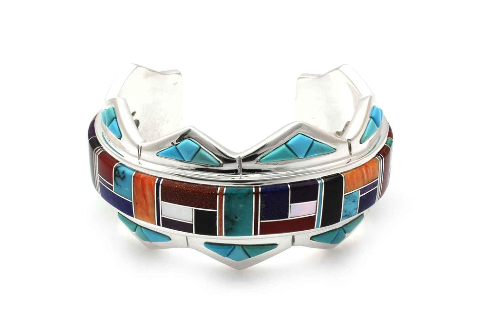 Channel Inlay Half Triangle Cuff Bracelet