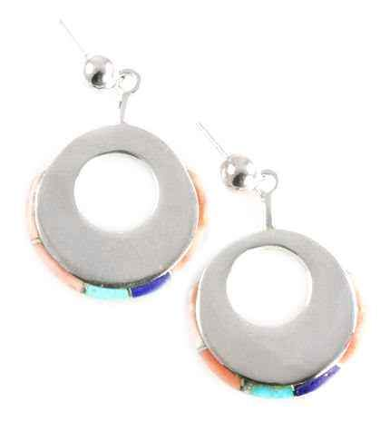 Circle Edge Inlay Earrings