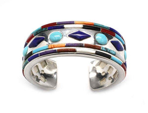 Ben Nighthorse-Sorrel Sky Gallery-Jewelry-Circles and Diamonds Cuff Bracelet