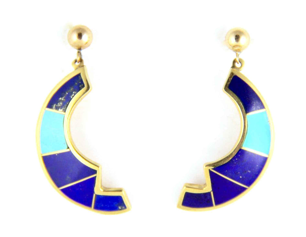 Ben Nighthorse-Sorrel Sky Gallery-Jewelry-Crescent Earrings