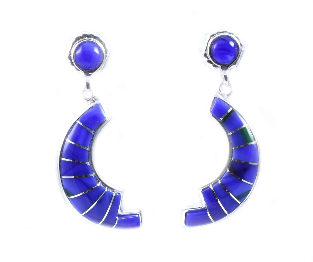 Ben Nighthorse-Crescent Earrings-Sorrel Sky Gallery-Jewelry