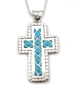 Cross Of Diamond Pendant-Jewelry-Ben Nighthorse-Sorrel Sky Gallery