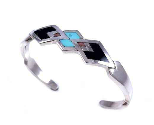 Ben Nighthorse-Diamond Inlay Bracelet-Sorrel Sky Gallery-Jewelry