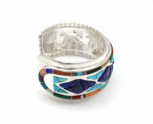 Diamonds/Horses Inside Cuff Bracelet-Jewelry-Ben Nighthorse-Sorrel Sky Gallery