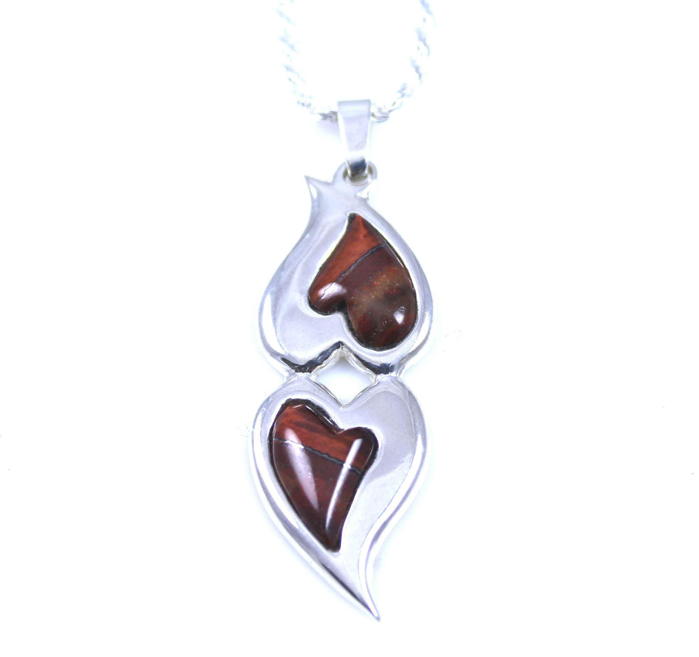Ben Nighthorse-Double Hearts Pendant-Sorrel Sky Gallery-Jewelry