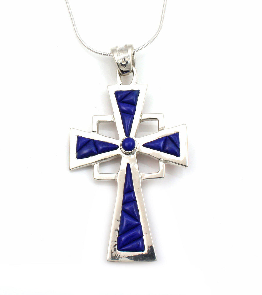 Double Triangle Square Cross Pendant