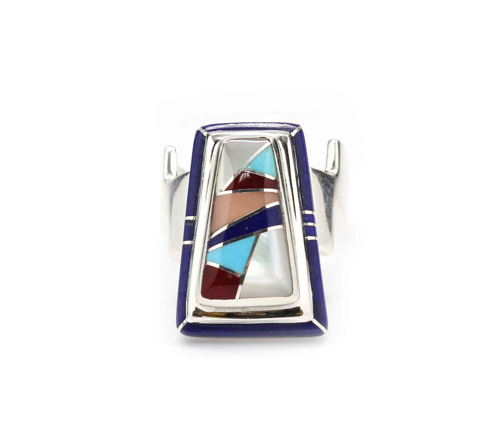 Ben Nighthorse-Edge Inlay Wedge Ring-Sorrel Sky Gallery-Jewelry