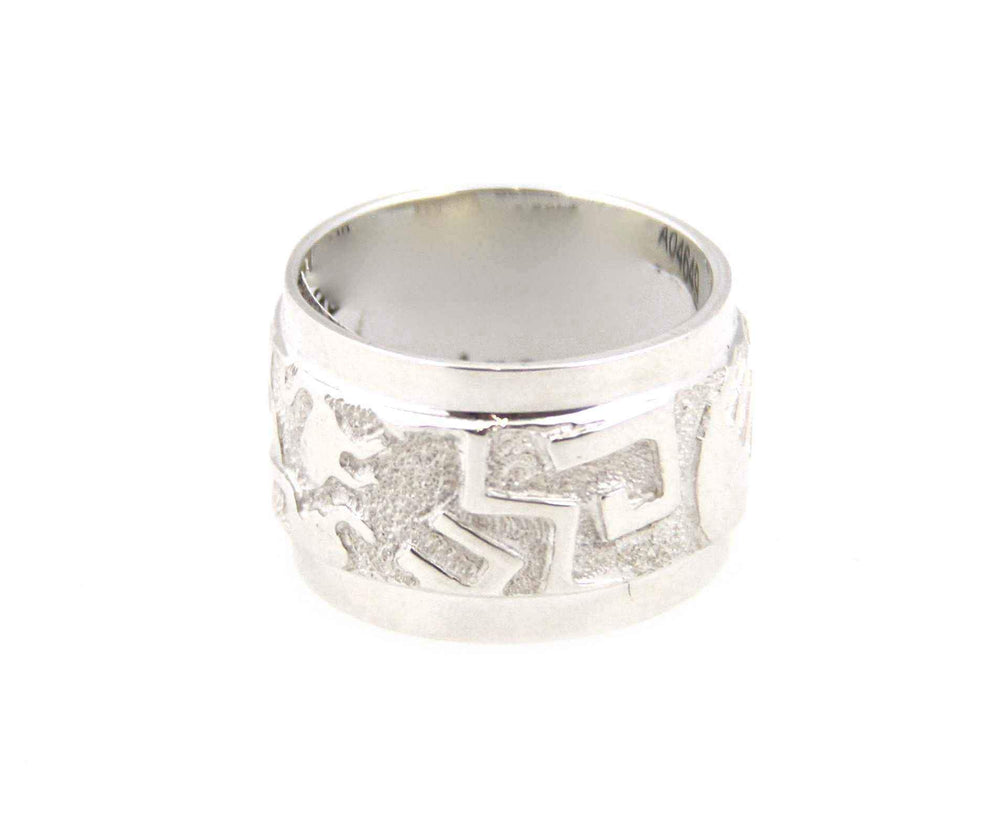 Edges Rock Art Wedding Band