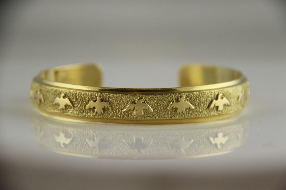 Gold All Metal Eagle Bracelet