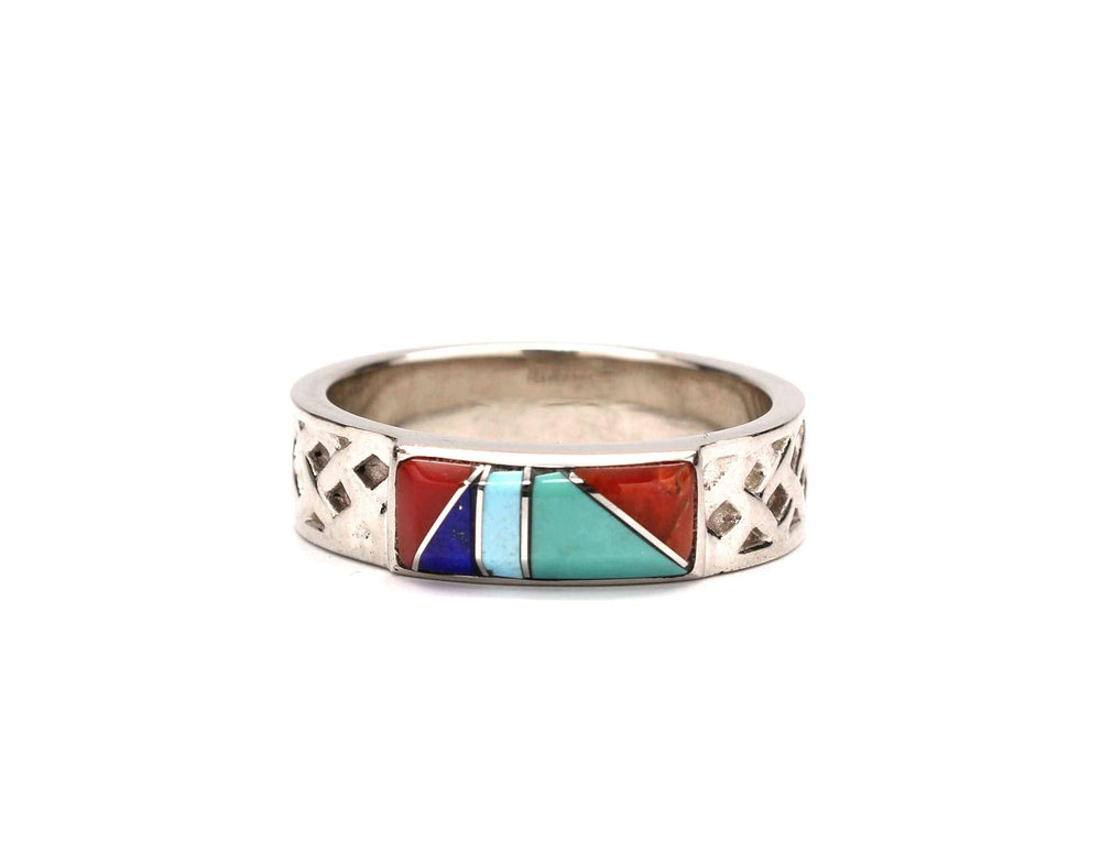 Ben Nighthorse-Gold Diamond Braided Inlaid Band-Sorrel Sky Gallery-Jewelry