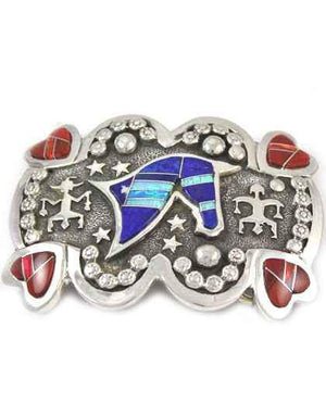 Ben Nighthorse-Head Of Horse And Hearts Buckle-Sorrel Sky Gallery-Jewelry
