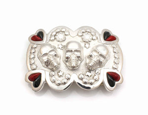 Heart and Skulls Belt Buckle-Jewelry-Ben Nighthorse-Sorrel Sky Gallery