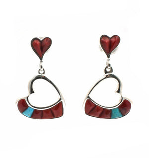 Heart Earrings-Jewelry-Ben Nighthorse-Sorrel Sky Gallery